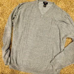❤️5/25 DOCKERS Blue / Gray V Neck Sweater